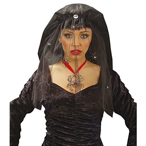 Velo de Carnaval de Halloween araa Viuda Negra Velo Velo de luto Fasnet Brujas Fasnacht