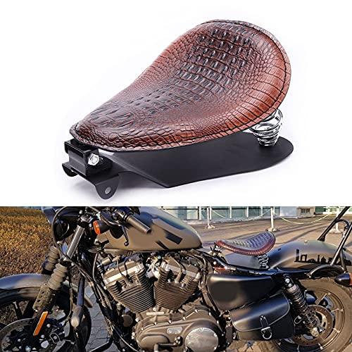 Bobber Motorcycle Solo Seat Brown Spring Brown Bracket Base Set For Honda Shadow Spirit ACE VT 1100 750