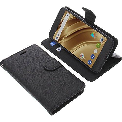 foto-kontor Housse pour Ulefone S8 Pro Style Livre Noir Coque de Protection Portefeuille