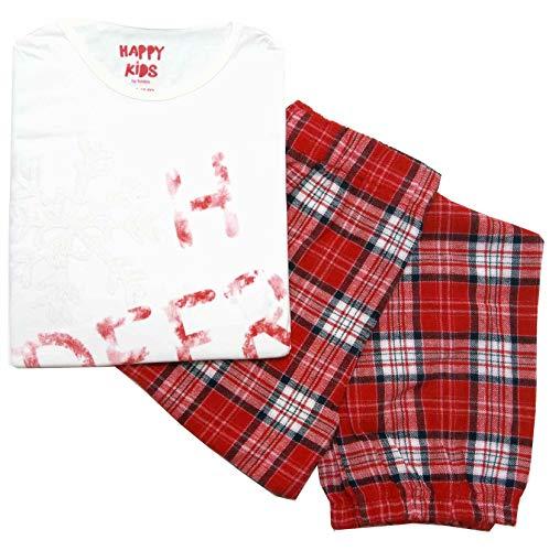 Tchibo TCM Mädchen Schlafanzug mit Flanell-Hose Pyjama Lang (134/140)