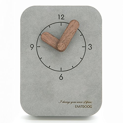 Xiaojie Reloj minimalista de mesa con campana para dormitorio de estudiante y cama silenciosa (color: gris claro)