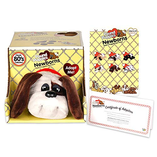 "Basic Fun Pound Puppies Newborns - Classic Stuffed Animal Plush Toy - 8"" - Grey with Black Spots - Great Gift for Boys & Girls"