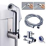 Hand-Bidet-Sprühgerät für die Toilette, Bidet-Sprühset für das Badezimmer aus Edelstahl, Hand-Stoffwindel-Sprühgerät für die Toilette für die persönliche Hygiene und WC-Sprühgerät für die Bettpfanne