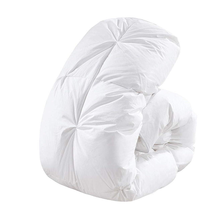 植物学反映するベットROSECOSE 羽毛布団 掛けふとん シングル ホワイトダックダウン90% 肌掛け 掛けふとん 吸湿?放湿 性に優れ 寝心地さわやか 消臭 抗菌 防ダニ 肌布団 ホワイト (ホワイト, シングル)