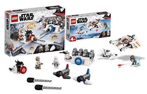 Legoo Lego Star Wars-Set: 75268 - Snowspeeder + 75239 Generator-Attacke, ab 4 Jahren