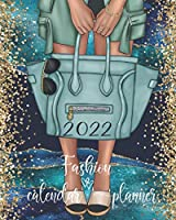 2022 Fashion Calendar Planner: Teal Blue And Gold Agate, Women's Fashionable Purse Calendar Organizer With Daily, Weekly And Monthly Pages