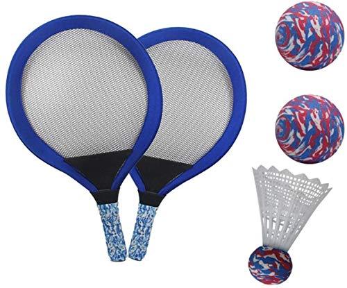 HLD Tennisbälle Spielzeug-Geschenk for Jungen, Mädchen, Kinder Racket Set Weiche Badminton mit Federball Bälle Jungen und Mädchen Strand Outdoor-Sport-Spielzeug Extra Large Vogel Leuchtet for die Nach