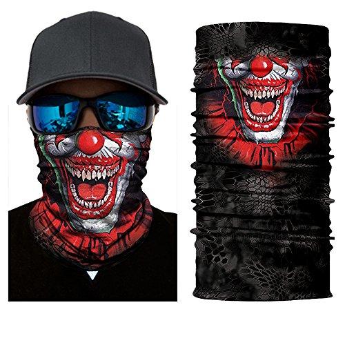 Nuevo estilo magia diadema motocicleta ciclismo bandanas máscara cuello tubo bufanda payaso pasamontañas nuevo