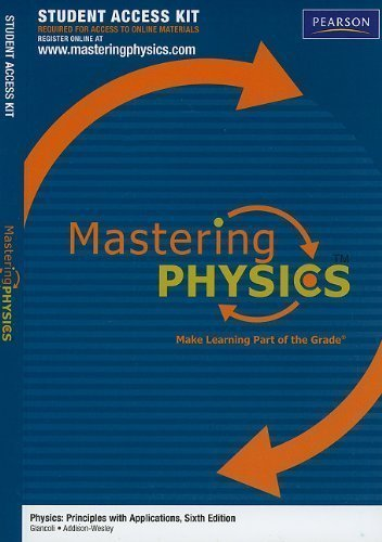 MasteringPhysics Student Access Kit for Physics: Principles with Applications (6th Edition) (Mastering Physics (Access Codes)) 6th (sixth) Edition by Giancoli, Douglas C., Pearson Education, - [2009]