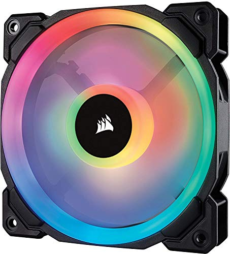 Corsair CO-9050073-WW LL120 120 mm Dual Light Loop RGB LED PWM Fan - Black