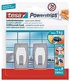 Tesa 57999-00000-01 - Ganchos autoadhesivos (acero inoxidable, 2 unidades)