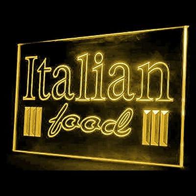 tigerneon 110047 Open Italian Food Restaurant Ham Olive Oil Display LED Light Sign