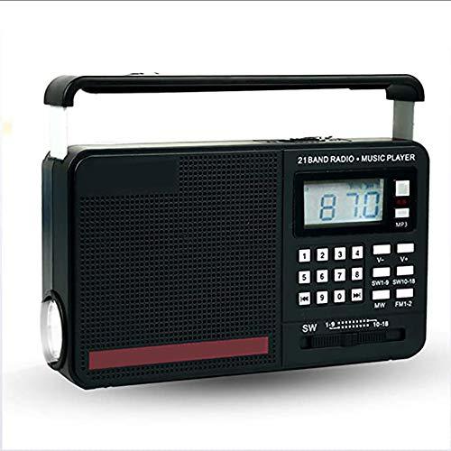 Zks Radio, Nosta Radio Portable avec Lumière LED Puissance Arrêttemporisé Hors Taille De La Mémoire Compact Music Player Support USB Disk Carte SD Fichiers MP3