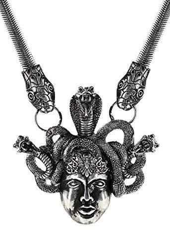 Restyle Halskette Medusa Silberfarben