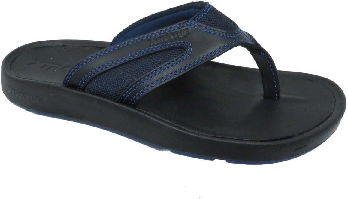 Xtratuf South Shore Leather Men's Sandals, Black & Blue (Xmf-000), 8