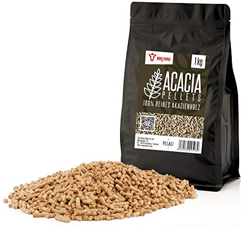 BBQ-Toro Acacia Pellets aus 100% Akazienholz | Akazienpellets für Grill, Smoker, Pellet-Pizzaofen und Heizungsanlagen | Grillpellets