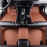 JJJJD Encargo del Piso del Coche tapetes for Toyota RAV-4 Camry Vitz Verso Wish Corolla Prius Auris Land Cruiser Prado 4runner Fortuner alfombras de Coche (Color : Brown)