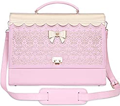 Laptop Bag,WWW 15.6 Inch Messenger Bag with Strap for Women,Briefcase Bag Satchel Shoulder Bag Sturdy Work Tote Bags Multi-Compartment fit for Computer Notebook Macbook Hp Dell Lenovo Asus Apple Pink