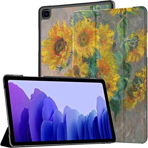 Monet Ramo de Girasoles Jarrón en Mesa Tableta con Estuche Galaxy Tab A7 10.4 Pulgadas Samsung Galaxy Tab A7 10.4 2020 Estuche Galaxy Tab A Estuches con activación automática/Reposo Fundas para Tab