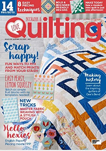 Love Patchwork & quilting: 8 Easy Piecing Techniques (English Edition)