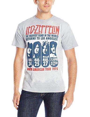 Liquid Blue Herren T-Shirt Led Zeppelin Hermit Kurzarm - Mehrfarbig - Groß