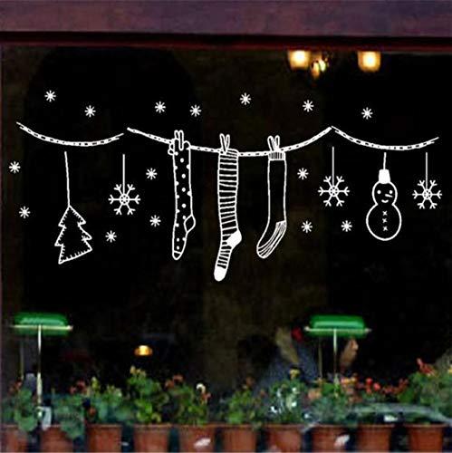 Wuyyii Vrolijk Kerstmis Muur Kunst Verwijderbare Huis Vinyl Muurstickers Glas Decor Huis Kast Tegel Gesneden Stickers Groothandel