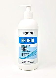 Delfanti Milano • RETINOL firming Body Cream with VITAMIN C • Made in Italy • Supersize Value 16.9 OZ