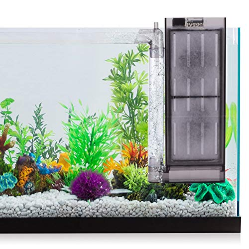 hygger Ultra Quiet Hang On Aquarium Filter Air Driven Small Fish Tank Filter for 2-5 Gallon Betta Fish Fry Shrimp Tank
