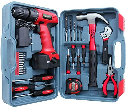 Hi-Spec 26 Piece 9.6V Drill Driver & Home Tool Kit Set....