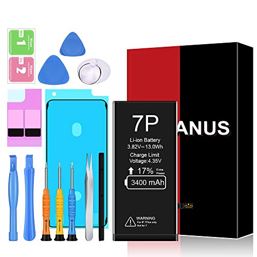Heganus Akku für iPhone 7 Plus 3400mAh, Ersatzakku mit hoher Kapazität, mit Werkzeugset und Reparaturset Akku-Austausch Anleitung, Kompatibel mit Apple 7P, Garantie 2 Jahr 100%