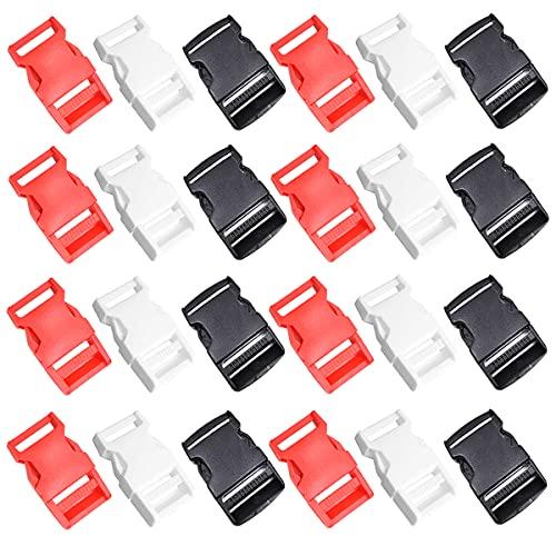 Liwein 30Pcs Boucles en Plastique,Plastique Fermetures Boucles À Décollement Rapide Boucles Réglables pour Sacs à Dos Ceintures Bracelet Harnais