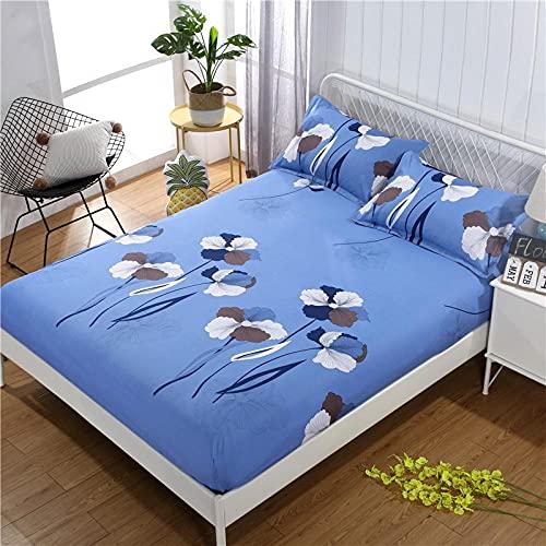 CYYyang colchón Acolchado, antialérgico antiácaros, Sábana de Cama de algodón Aloe simple-16_90cm × 200cm