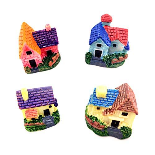 allgemein Kit De Adornos De Hadas Miniatura Resina Mini Casa con Patio JardíN Casa De MuñEcas Micro Paisaje Decoración