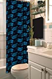 Officially Licensed NFL Carolina Panthers Shower Curtain, 72' x 72', Multi Color