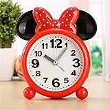 Kpcxdp Dibujos Animados creativos Reloj Despertador Red Rice Styling Alarma Reloj de Alarma Chica Chica Estudiante Cama Reloj de Alarma Daily Necesitities Dailer Reloj de Alarma