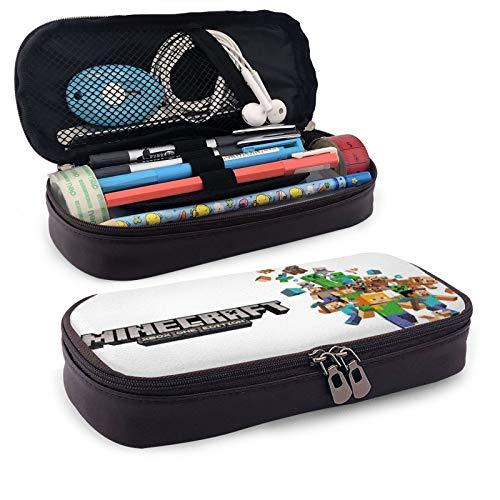 Min-Ecraft Federmäppchen Große Kapazität Bleistift Tasche Schreibwaren Box Tragbare Multifunktions Bleistift Pen Pouch für Jungen Mädchen Studenten