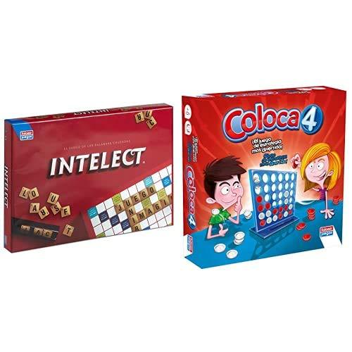 Falomir- Intelect Junior Juego de Mesa, Multicolor, única (646448) + Rummy Junior Juego de Mesa, Multicolor, Talla Única (646456)