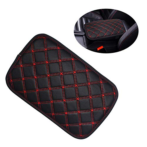Monrand Universal Center Console Armrest Pad,Car Center Console Cover PU Car Armrest Cover Fit for Most Vehicles Car Accessories,Waterproof Car Armrest Seat Box Cover Protector