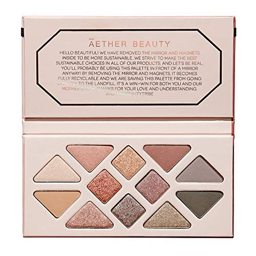 Aether Beauty - Natural Rose Quartz Crystal Gemstone Palette | Clean, Non-Toxic Makeup