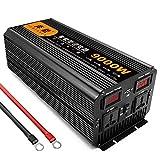 NLJY Inversor Conmutable De 12 V 220 V, Inversor para Automóvil, Convertidor De Voltaje De Onda Sinusoidal Pura De 3200 W, Adecuado para Vehículos Recreativos, Automóvil con Panel Solar,5000W-12V