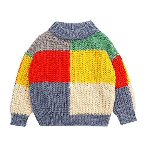 Baby Mädchen Pullover Herbst Winter Regenbogenpullover Kinder Kleidung Koreanisch Kinder gestreift Farbe Kern Garn Strick Mädchen Shirt Tops Gr. 4 Jahre, Wie das Bild 1