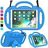 AVAWO Kids Case for New iPad 9.7' 2018 - Light Weight Shock Proof Handle Stand Friendly Kids Case for Apple iPad 9.7-inch (2017 Release 5th Generation & 2018 Release 6th Generation) Tablet - Blue