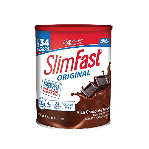 SlimFast Original Rich Chocolate Royale Meal Replacement Shake Mix - Weight Loss Powder - 31.18oz Canister - 34 servings