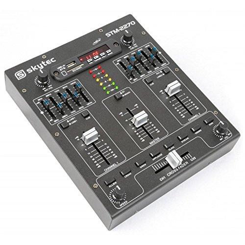 Skytec 172982 4-Kanal-Mixer mit Effekten, SD/USB / MP3 / BT