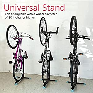 Bike Nook Bicycle Stand, Portable and Stationary Space-Saving Rack with Adjustable Height, for Indoor Bike Storage