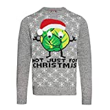Weihnachtspullover mit Rosenkohl-Santa