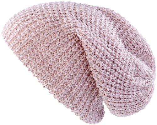 PEARL urban xXL long bonnet en tricot bonnet-rose