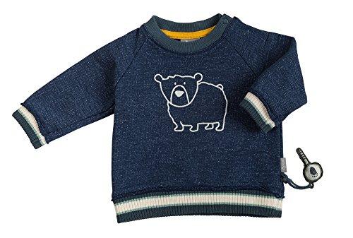 Sigikid Baby-Jungen Sweatshirt, Blau (Dark Blue 200), 86