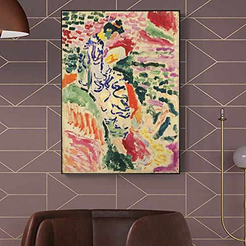 Obras de arte abstracto de Henri Matisse de nia leyendo pintura al leo carteles e impresiones murales copiados en lienzo atelier cuadros decorativos sin marco en lienzo A290 60x80cm