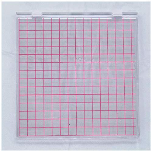 KWELLAM Herramienta de estampación perfecta de posicionamiento con sellos transparentes para álbumes de recortes, manualidades para hacer tarjetas, álbumes de recortes y otras manualidades de papel